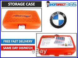 10pc BMW MASTER LOCKING WHEEL NUT KEY SET Tamper Proof Spline Bit Socket CT3985