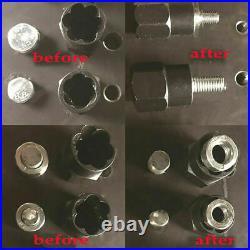 10x Twist Socket Locking Wheel Nut Remover Non Slip Broken Stud Rounded Bolt Kit