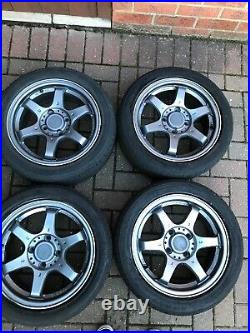 15 fox alloys and wheels x4 and locking wheel nut great condition