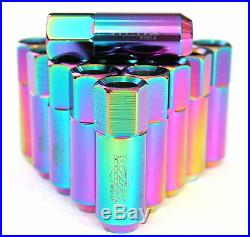 16PC CZRracing NEO EXTENDED SLIM TUNER LUG NUTS LUGS FOR WHEELS/RIMS M12X1.5