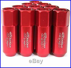 16PC CZRracing RED EXTENDED SLIM TUNER LUG NUTS LUGS WHEELS/RIMS (FITSMAZDA)