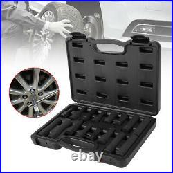 16X Vehicle Wheel Locking Lug Nut Master Kit Lock Key Removal Tool Set