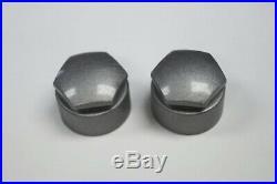 17mm WHEEL NUT COVERS LOCKING BOLT CAPS GREY MERCEDES A B C E S CLA CLC CLS