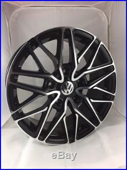 18 Inch VW Transporter Wraith Alloy Wheels with Tyres, VW Badges & Locking Nuts