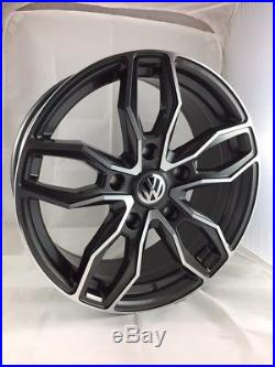 18 Inch Volkswagen Transporter Alloy Wheels with Tyres, VW Badges & Locking Nuts