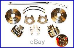 1962-74 Dodge Mopar Bolt Rear Disc Brake Wheel Kit- Lock Nut Axle