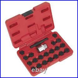 1x 22 Piece Sealey Locking Wheel Nut Key Set BMW SX207