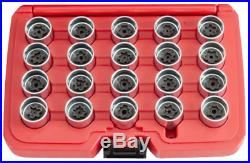 20Pc. Audi Locking Wheel Nut Key Set T&E Tools T65077