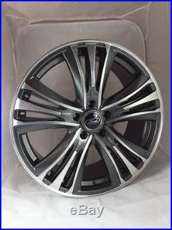 20 Inch Ford Transit Custom Alloy Wheels with Tyres, Ford Badges & Locking Nuts