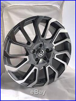 20 Inch VW Transporter Twist 2 Alloy Wheels with Tyres, VW Badges & Locking Nuts
