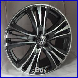 20 Inch Volkswagen Transporter Alloy Wheels with Tyres, VW Badges & Locking Nuts