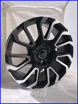 20 Transit Custom Twist Alloy Wheels with Tyres, Ford Badges & Locking Nuts