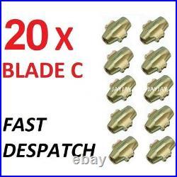 20 x DYNOMEC Blade C McGard type AA RAC TYPE LOCKING WHEEL NUT REMOVAL DY1016