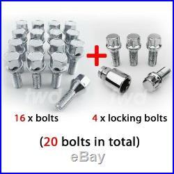 20x ALLOY WHEEL BOLTS & LOCKS FOR VAUXHALL OPEL VIVARO (2001+) 19MM NUTS Z4b