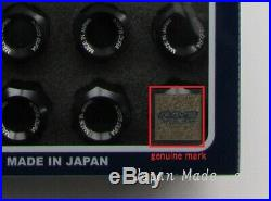 20x RAYS Wheel Lug Nuts Dura Lock Nut Set 42mm for 5H Black M12xP1.5 (12x1.5)