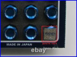 20x Rays Wheel Lug Nuts Dura Lock Nut Set 32mm for 5H Blue M12xP1.25 (12x1.25)