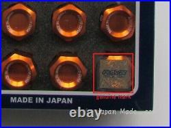 20x Rays Wheel Lug Nuts Dura Lock Nut Set 42mm For 5H Orange M12xP1.5 (12x1.5)