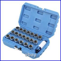 21Pcs Wheel Locking Lug Nut Key Set Remover Installation AntiTheft Kit