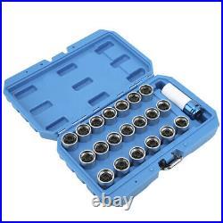 21Pcs Wheel Locking Lug Nut Key Set Remover Installation AntiTheft Kit For E12