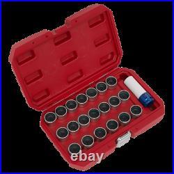 21pc Locking Wheel Nut Key Set BMW Sealey SX217