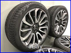 22 Land Rover Ranger Rover Turbine Wheels L405 X 4 With Tyres And Locking Nuts