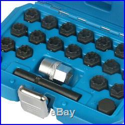 22 Pce Wheel Locking Key Set Audi Anti-Theft Wheel Rim Lug Nut Master Removal