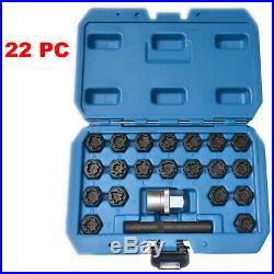 22pc Audi Master Locking Wheel Nut Stud Remover Tool Kit