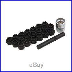 22pc Locking Wheel Nut Key Master Set For Audi A3 S3 RS3 A5 A1 A4 A6 A7 A8 Q ETC