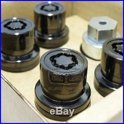 23mm RANGE ROVER DISCOVERY SPORT VOGUE BLACK ALLOY WHEEL LOCK LOCKING NUTS BOLTS