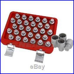 30pc Mercedes Locking Wheel Nut Key Set Unique Socket Set Patterned Recessed