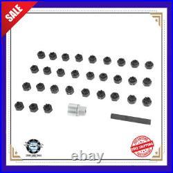 32PCS Anti Theft Screw Sleeve Removal Wheel Lock Lug Nut Disassembled Key Socket
