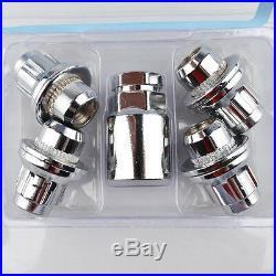 4+1 LOCKING WHEEL NUTS LUG BOLTS STUDS FLAT SEAT SCREW fits TOYOTA LEXUS M12x1.5
