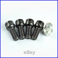 4+1 Locking Wheel Nuts Bolts Studs Radius Security Key for AUDI A3 A4 A5 A6