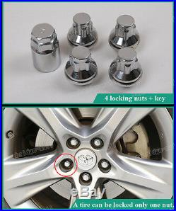 4+1 WHEEL LOCKING NUTS FLAT SEAT SECURITY LUG BOLTS FOR Jaguar S-type X-type XF