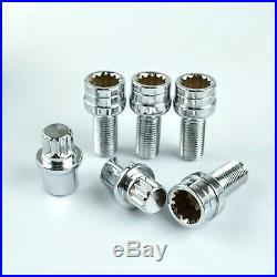 4+2 for AUDI A3 A4 A5 A6 Locking Wheel Nuts Bolts Studs Security Key Radius