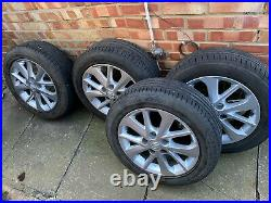 4 Alloy Wheels 16 With Tyres, Centre Caps & Lock Nuts