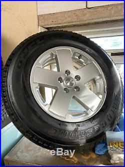 4 Jeep JK 18 Wheels on Bridgestone Tyres brand new with locking nuts
