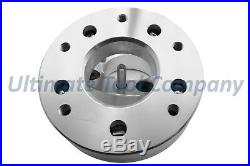 4 Pc 5x5 to 6x135 2 Wheel Conversion Adapter Kit with Black 7 Spline Lock Nut Set