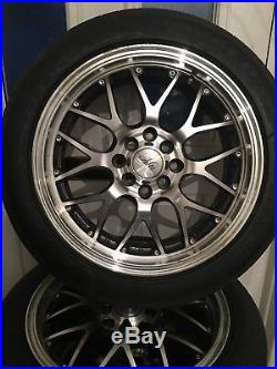4 Universal Alloy Wheels And Tyres 16inch Locking Nuts