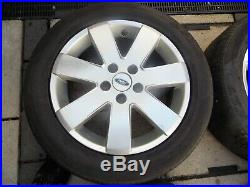 4 off 16 ford Mondeo Alloy wheels 5 stud with wheel nuts & locking nuts inc key