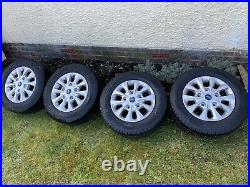 4 x 16 FORD TRANSIT CUSTOM LIMITED ALLOY WHEELS. New With Nuts And Locking Nuts