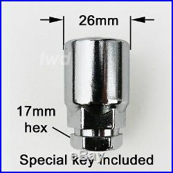 4 x ALLOY WHEEL LOCKING BOLTS FOR VW (M14x1.5) RADIUS SECURITY LUG NUTS aR0b