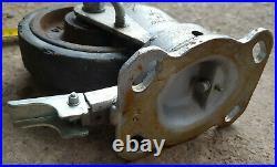 4 x Heavy Duty Casters 150mm Wheels REVVO Swivel Lock + Braked High Q +Nuts Bolt