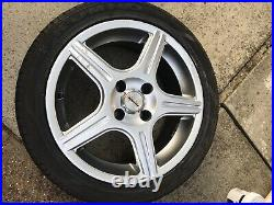 4 x Team Dynamics 4 stud 15 alloy wheels with tyres & locking wheel nuts