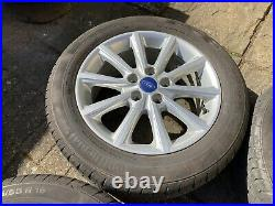 4x 16 5x108 Ford Focus Alloy Wheels alloys Continental Tyres Ford Locking Nuts
