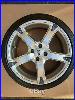 4x 17 BK Racing Alloy Wheels + Tyres + Locking Wheel nuts + nuts + spigots