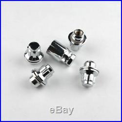 4x Alloy Standard Locking Wheel Bolt Nuts M12 x 1.5 For Toyota Yaris Corolla MR2