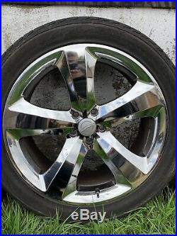 4x Chrome 21 alloy wheels With Wheel Nuts And Locking Wheel Nut