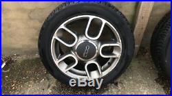 4x Fiat 500 Alloy wheels, 15 Inc, wit nuts and locking, 2011