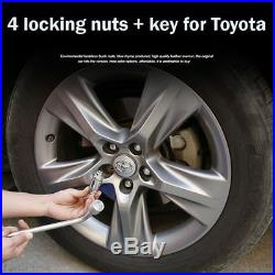 4x (M12x1.5) Locking Wheel Nuts Bolts Anti-theft Security Key fit for Toyata